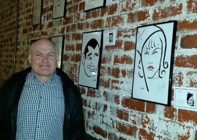 ©JIFF photo Melbourne with Harv and vitch caricatures