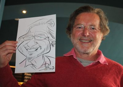 ©JIFF photo - Melbourne premiere with Harv caricature